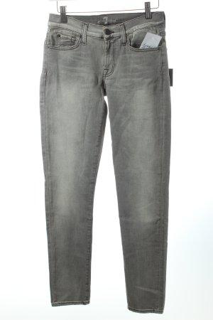 "7 For All Mankind Skinny Jeans ""Gwenevere"" hellgrau NEU!"