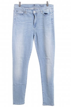 7 For All Mankind Skinny Jeans hellblau Casual-Look