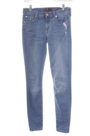 7 For All Mankind Skinny Jeans hellblau Jeans-Optik