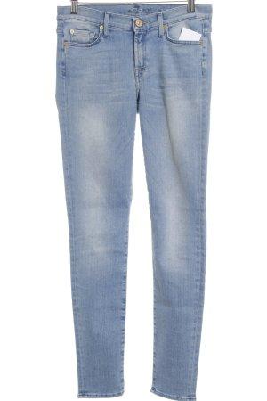 7 For All Mankind Skinny Jeans hellblau Street-Fashion-Look