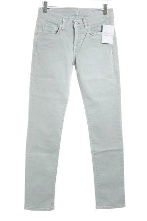7 For All Mankind Jeans skinny azzurro Bottoni ornamentali