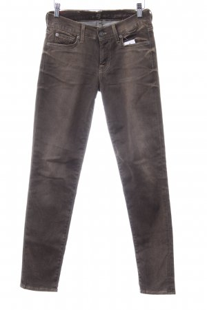 7 For All Mankind Skinny Jeans hellbraun Casual-Look