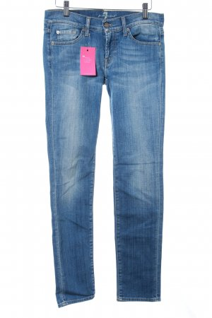 7 For All Mankind Vaquero skinny azul celeste look casual