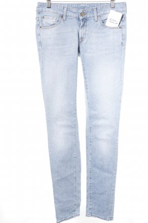 7 For All Mankind Skinny Jeans himmelblau-kornblumenblau Casual-Look