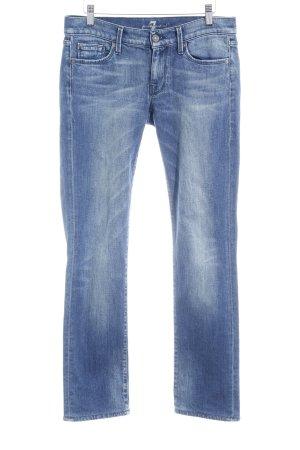 7 For All Mankind Skinny Jeans kornblumenblau Casual-Look