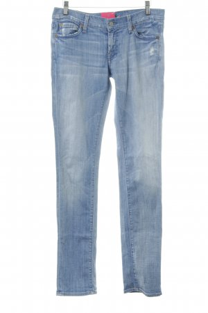7 For All Mankind Jeans skinny bleuet style déchiré