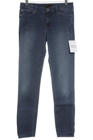 7 For All Mankind Skinny Jeans kornblumenblau schlichter Stil