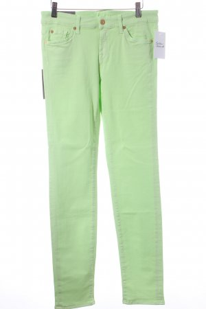7 For All Mankind Skinny Jeans neongrün Casual-Look