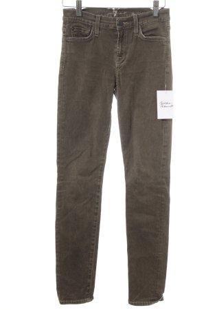 7 For All Mankind Skinny Jeans olivgrün schlichter Stil
