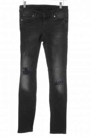 7 For All Mankind Vaquero skinny negro estilo relajado