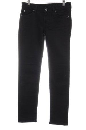 7 For All Mankind Skinny Jeans schwarz Metallelemente
