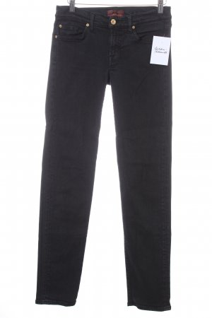 7 For All Mankind Skinny Jeans schwarz schlichter Stil