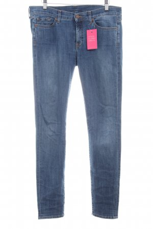 7 For All Mankind Skinny Jeans steel blue casual look