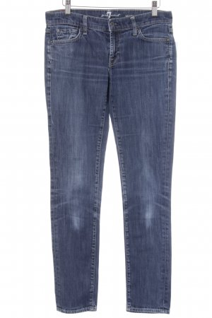 7 For All Mankind Skinny Jeans stahlblau-himmelblau Street-Fashion-Look