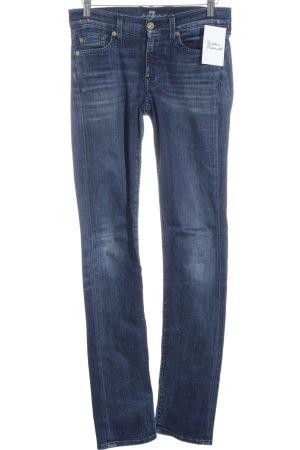 7 For All Mankind Skinny Jeans stahlblau Jeans-Optik
