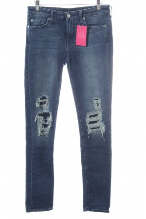 7 For All Mankind Vaquero skinny azul acero look Street-Style