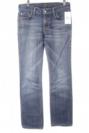 7 For All Mankind Skinny Jeans steel blue-white jeans look