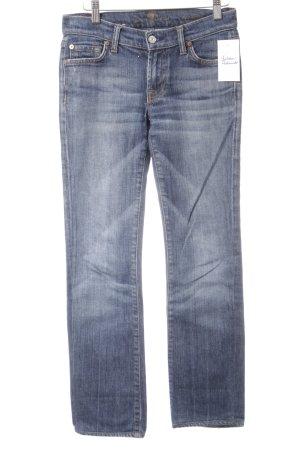 7 For All Mankind Skinny Jeans stahlblau-weiß Jeans-Optik