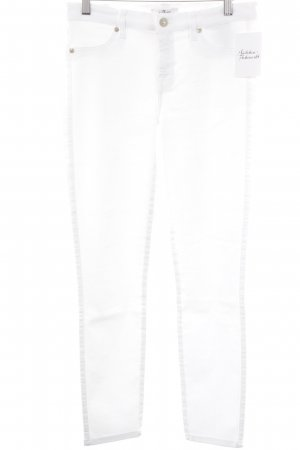 "7 For All Mankind Skinny Jeans ""The Skinny"" weiß"