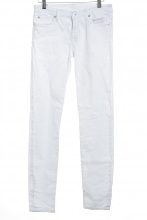 "7 For All Mankind Skinny Jeans ""The Skinny "" weiß"