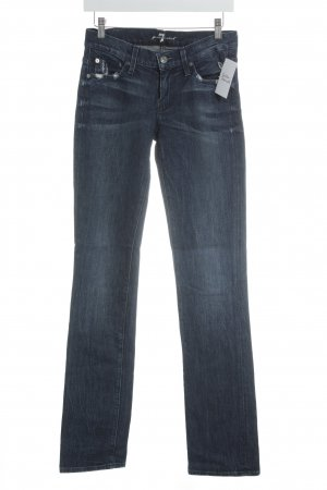 7 For All Mankind Skinny jeans wit-donkerblauw Jeans-look