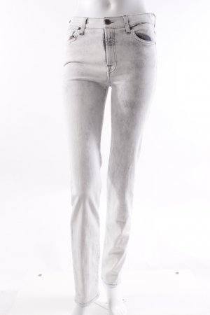 7 for all Mankind Skinny Jeans weiß-grau