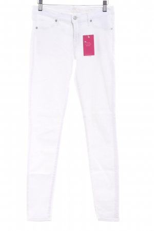 7 For All Mankind Vaquero skinny blanco estilo sencillo