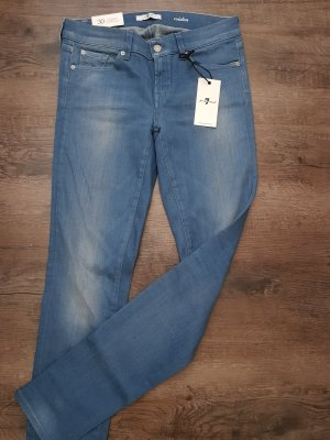 7 For All Mankind Jeans skinny blu pallido