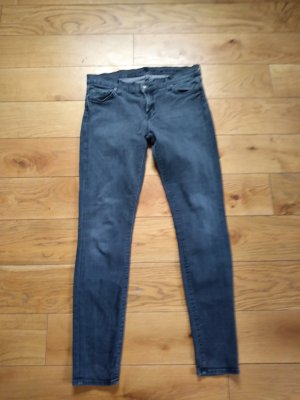 7 For All Mankind Pantalón de tubo gris antracita