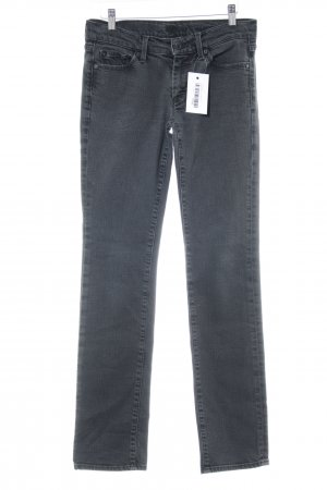 7 For All Mankind Slim jeans antraciet gewassen uitstraling