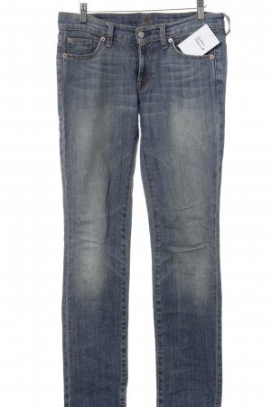 7 For All Mankind Slim Jeans blassblau-kornblumenblau Washed-Optik