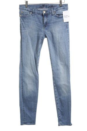 7 For All Mankind Slim Jeans blassblau Street-Fashion-Look