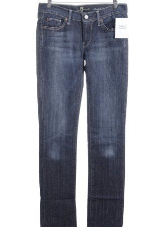 7 For All Mankind Slim Jeans blau-kornblumenblau Casual-Look
