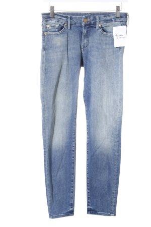 7 For All Mankind Slim Jeans blau Street-Fashion-Look
