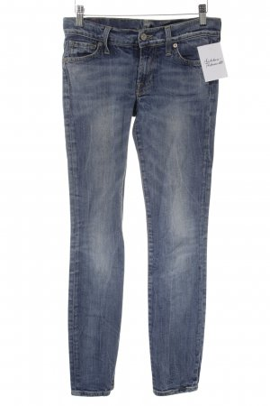 7 For All Mankind Slim Jeans blau Washed-Optik