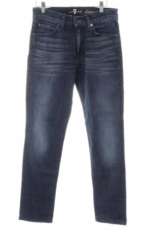 7 For All Mankind Slim jeans donkerblauw casual uitstraling