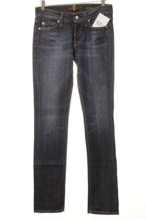 7 For All Mankind Slim Jeans dunkelblau Jeans-Optik