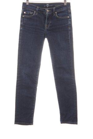 7 For All Mankind Jeans slim bleu foncé Aspect de jeans
