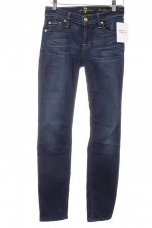 7 For All Mankind Slim Jeans dark blue washed look