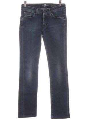 7 For All Mankind Jeans slim bleu foncé style délavé
