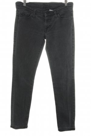 7 For All Mankind Slim jeans donkergrijs casual uitstraling