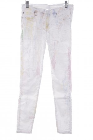 7 For All Mankind Slim Jeans spots-of-color pattern casual look