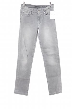 7 For All Mankind Slim Jeans light grey-grey weave pattern casual look