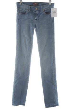 7 For All Mankind Slim Jeans kornblumenblau Casual-Look
