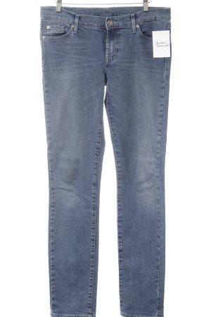 7 For All Mankind Slim Jeans kornblumenblau schlichter Stil