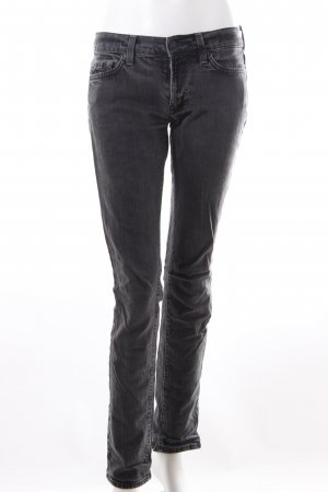 7 For All Mankind Slim Jeans schwarz