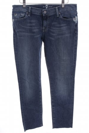 7 For All Mankind Slim Jeans steel blue casual look