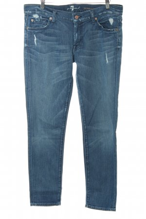 7 For All Mankind Slim Jeans stahlblau Casual-Look