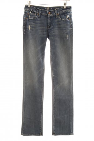 7 For All Mankind Slim Jeans stahlblau-himmelblau Casual-Look