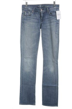 7 For All Mankind Slim Jeans stahlblau-kornblumenblau Casual-Look